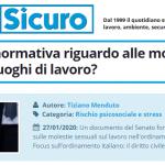 PuntoSicuro - Cosa dice la normativa riguardo alle molestie sessuali nei luoghi di lavoro?