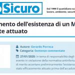 PuntoSicuro - Sull'accertamento dell'esistenza di un MOG efficacemente attuato