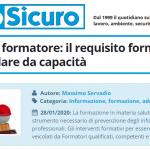 PuntoSicuro - Qualifica del formatore: il requisito formale non può esulare da capacità