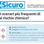 PuntoSicuro - Quali sono gli scenari più frequenti di esposizione al rischio chimico?