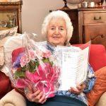Giuseppina Vernia, 100 anni il 28.1.20 pergamena spi cgil