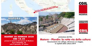Matera-Plovdiv la retta via della cultura, 28.1.20