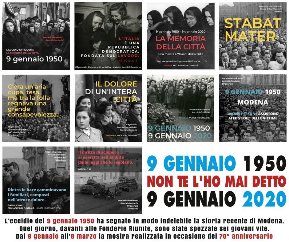 9 Gennaio 1950 - 9 Gennaio 2020: la memoria della città - La mostra fotografica
