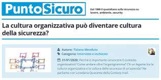 PuntoSicuro - La cultura organizzativa può diventare cultura della sicurezza?