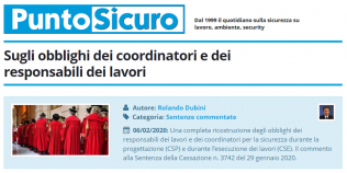 PuntoSicuro - Sugli obblighi dei coordinatori e dei responsabili dei lavori