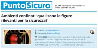 PuntoSicuro - PuntoSicuro - Ambienti confinati: quali sono le figure rilevanti per la sicurezza?