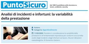 PuntoSicuro - Analisi di incidenti e infortuni: la variabilità della prestazione
