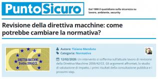 PuntoSicuro - Revisione della direttiva macchine: come potrebbe cambiare la normativa?