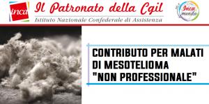 """Patronato Inca Cgil nazionale - Contributo per malati di mesotelioma """"non professionale"""""""