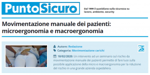 PuntoSicuro - Movimentazione manuale dei pazienti: microergonomia e macroergonomia