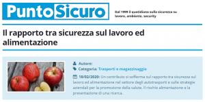 PuntoSicuro - Il rapporto tra sicurezza sul lavoro ed alimentazione