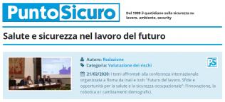 PuntoSicuro - Salute e sicurezza nel lavoro del futuro
