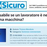 PuntoSicuro - Chi è responsabile se un lavoratore è nel raggio d'azione di una macchina?