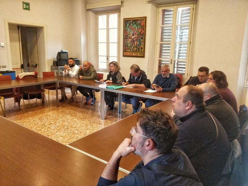 Goldoni Arbos assemblea con sindaco Carpi Bellelli 17.2.20