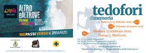 25 febbraio a Modena tedofori di memoria 100 passi verso il 21 marzo - banner
