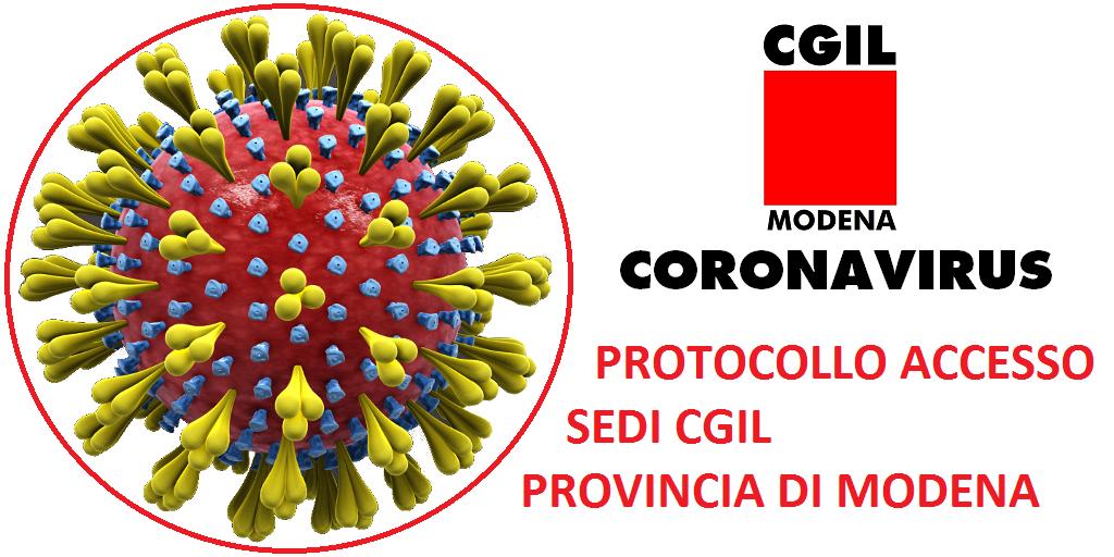 Accesso alle sedi Cgil in Provincia di Modena in presenza delle disposizioni della Regione ER e nazionali per diffusione Coronavirus