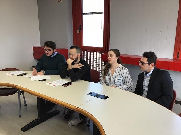 conferenza stampa Dondi, Dieci, Cairone, Santoro