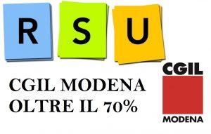 rsu cgil modena oltre 70%