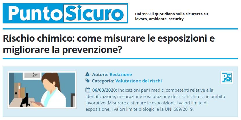PuntoSicuro - Rischio chimico: come misurare le esposizioni e migliorare la prevenzione?