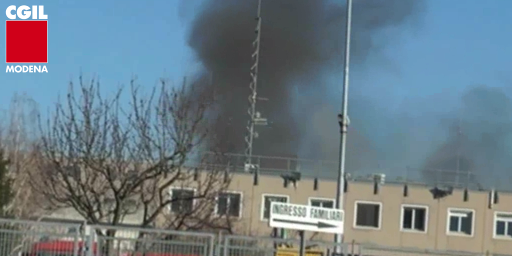 Modena, fuoco carcere Sant'Anna - 8.3.2020