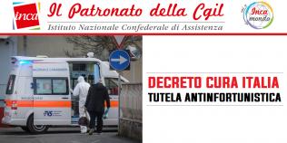 Patronato Inca Cgil Nazionale - Decreto Cura Italia: tutela antinfortunistica