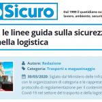 PuntoSicuro - Coronavirus: le linee guida sulla sicurezza nel trasporto e nella logistica