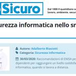 PuntoSicuro - Misure di sicurezza informatica nello smart working