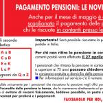 emergenza coronavirus - pagamento pensioni maggio 2020