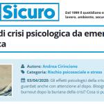 PuntoSicuro - Le due onde di crisi psicologica da emergenza microbiologica