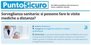 PuntoSicuro - Sorveglianza sanitaria: si possono fare le visite mediche a distanza?