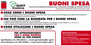 Emergenza Coronavirus - Buoni spesa - Auser e Cgil Modena