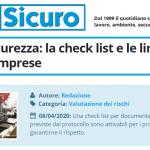 PuntoSicuro - Protocollo sicurezza: la check list e le linee guida per le imprese