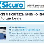 PuntoSicuro - COVID-19: rischi e sicurezza nella Polizia di Stato e nella Polizia locale