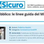 PuntoSicuro - Trasporto pubblico: le linee guida del Ministero per la fase 2