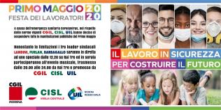 1° Maggio 2020 Il lavoro in sicurezza per costruire il futuro
