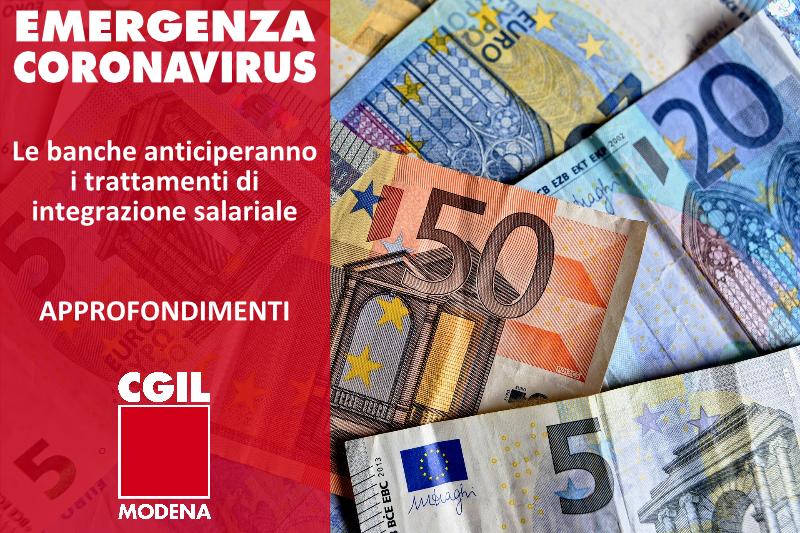 Emergenza Coronavirus - Anticipo banche integrazione salariale