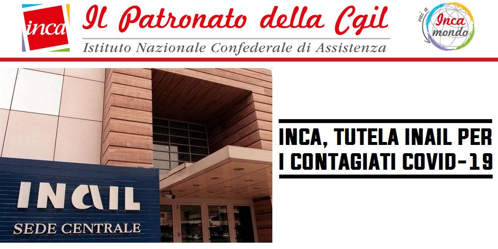Patronato Inca Cgil Nazionale - Covid-19. Inca, tutela Inail per i contagiati