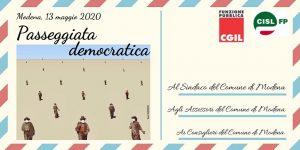 Piovono cartoline! Il 13/5/2020 passeggiata democratica per la loro consegna all'amministrazione del Comune di Modena