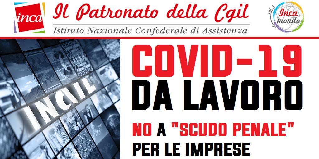 """Inca Cgil Nazionale - Covid-19 da lavoro. Inca, no a """"scudo penale"""" per le imprese"""