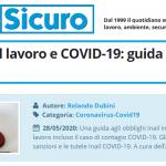 PuntoSicuro - Infortunio sul lavoro e COVID-19: guida agli obblighi Inail