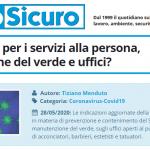 PuntoSicuro - Cosa cambia per i servizi alla persona, manutenzione del verde e uffici?