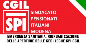 Emergenza sanitaria: verifica prima quando apriamo le sedi delle Leghe dello Spi Cgil Modena