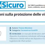 PuntoSicuro - DPI: indicazioni sulla protezione delle vie aeree dal Covid-19