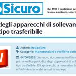 PuntoSicuro - Le verifiche degli apparecchi di sollevamento materiali di tipo trasferibile