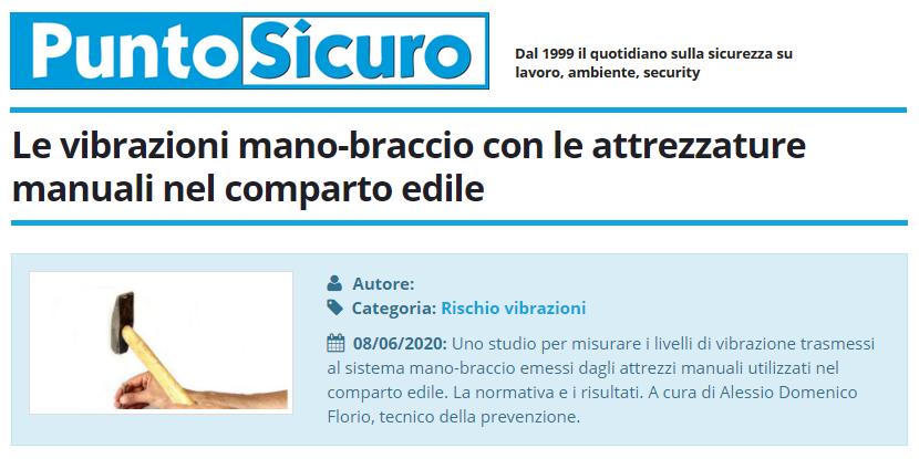 PuntoSicuro - Le vibrazioni mano-braccio con le attrezzature manuali nel comparto edile