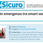 PuntoSicuro - Lavoro agile in emergenza tra smart working e telelavoro