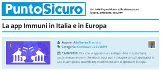 PuntoSicuro - La app Immuni in Italia e in Europa
