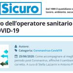PuntoSicuro - Stress e lavoro dell'operatore sanitario al tempo del COVID-19