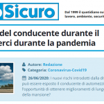 PuntoSicuro - La sicurezza del conducente durante il trasporto merci durante la pandemia
