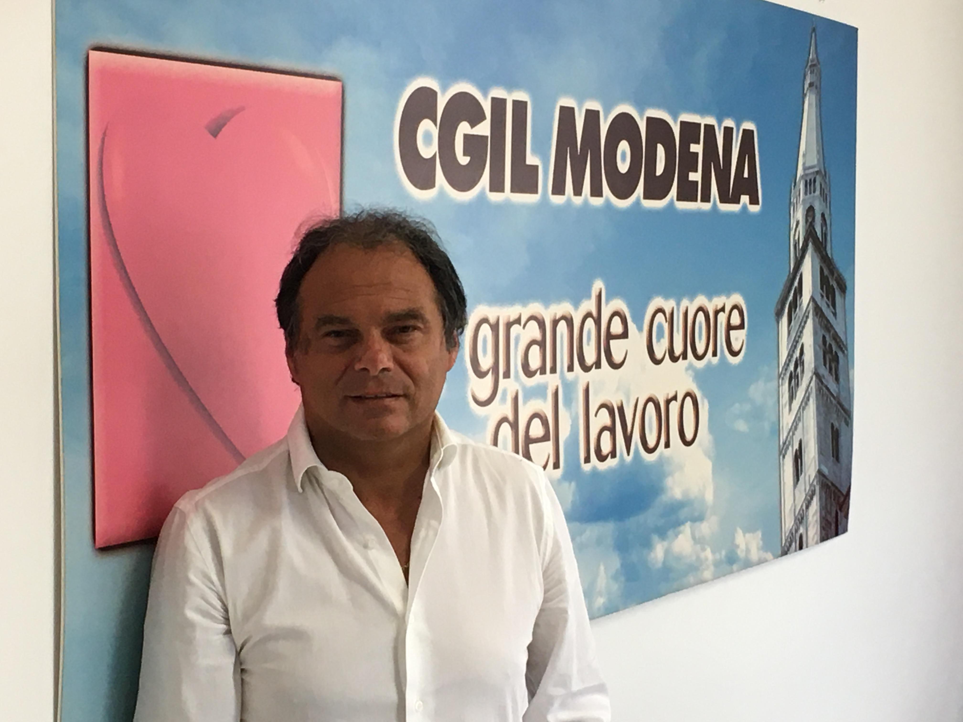 Cesare Pizzolla (componente della segreteria Cgil Modena)